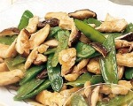 Snow Peas and Mushrooms