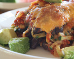 Southwestern Zucchini and Black Bean Casserole