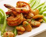 Spanish Shrimp and Green Bean Sauté