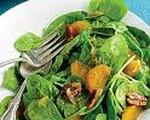 Spinach Salad with Persimmons and Spiced Pecans