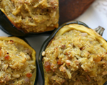 Stuffed Acorn Squash with Apple and Couscous