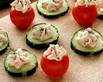 Stuffed Tomato and Cucumber Bites