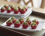 Stuffed cherry tomato poppers