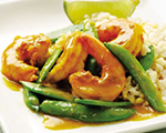 Sugar Snap Pea and Shrimp Curry