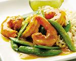 Sugar Snap Pea and Shrimp Curry