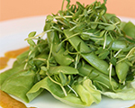 Sugar snap pea and watercress salad with sesame vinaigrette