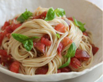 Summer Pasta with Tomato and Brie Sauce