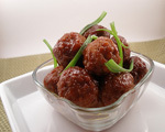 Sweet Meatballs with Matzo