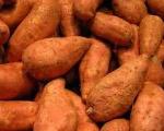 Orange Sweet Potatoes and Pork