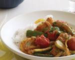 Thai Chicken, Zucchini and Tomato Curry