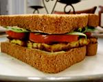 Tofu, Lettuce and Tomato Sandwich