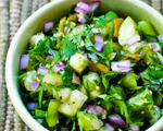 Tomatillo Salsa with Roasted Green Chiles and Lime