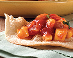 Tortilla Bread with Mango Salsa