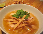 Tortilla Soup with Chicken and Posole
