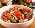 Tuna, Cannellini Bean, Red Onion and Tomato Salad