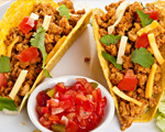 Turkey tacos with mango salsa
