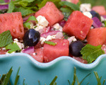 Watermelon and red onion summer salad