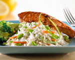Teriyaki Salmon with Gingered Vegetable Rice