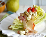Wedge salad with crispy bacon and Gorgonzola cream