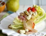 Wedge salad with crispy bacon and Gorgonzola cream