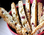 White Chocolate Cherry Biscotti