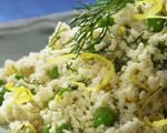Whole Wheat Couscous with Parmesan & Peas
