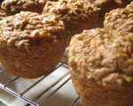 Whole Wheat Flax and Apple Muffins