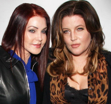 Lisa Marie Presley and Priscilla Presley